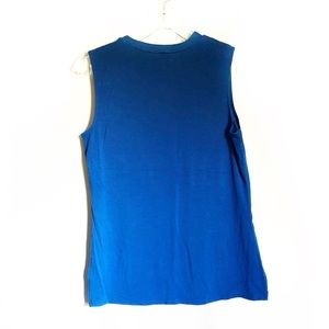The Limited Tops - The Limited Royal Blue Sleeveless Blouse